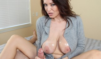 charlee chase in cashmere giving handjob